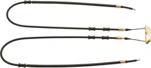 Трос ручного тормоза Vectra B средн.  L=1455/1225.  Трос ручника задний левый/правый OPEL VECTRA B. РИНА.